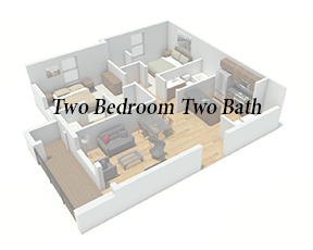 Button 2Bd 2Ba - Angle View