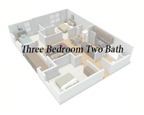 Button 3Bd 2Ba - Angle View